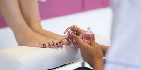 woman hospitalized after pedicure