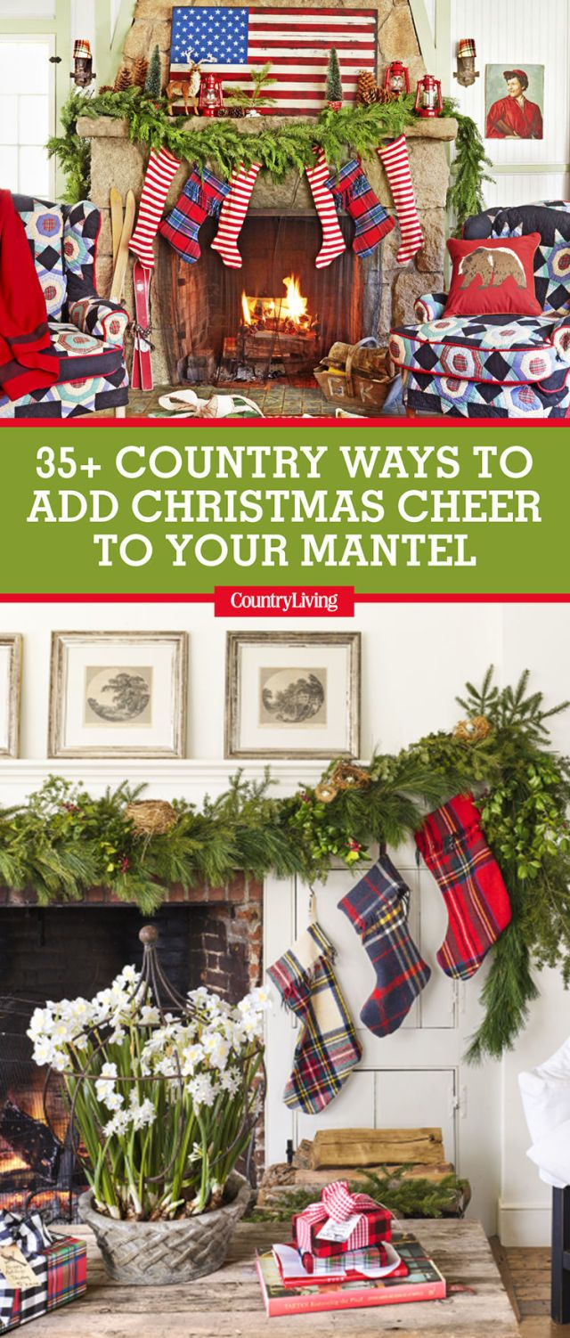 image 38 Christmas Mantel Decorations Ideas
