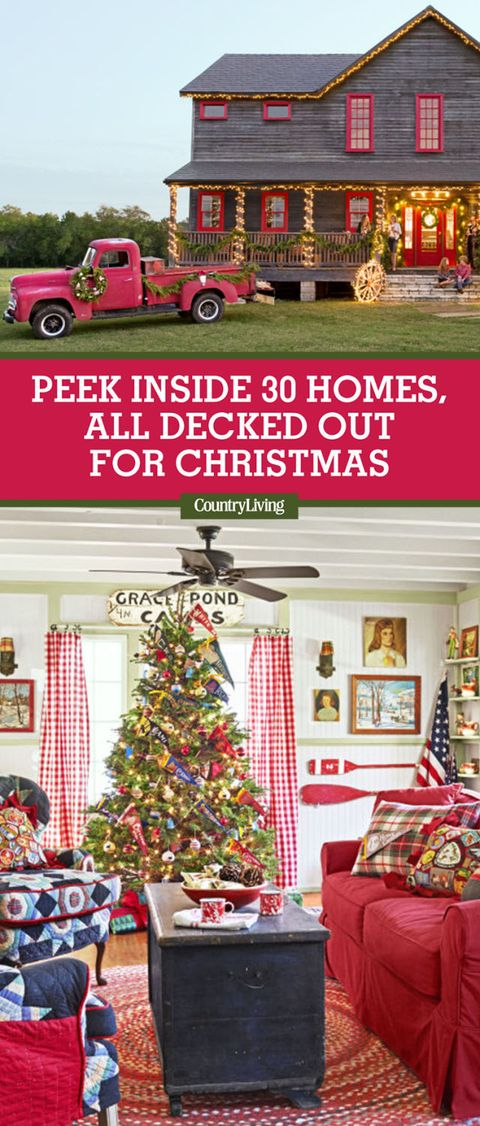 Save These Ideas. Save these Christmas house ... - 30 Best Christmas Home Tours - Houses Decorated For Christmas