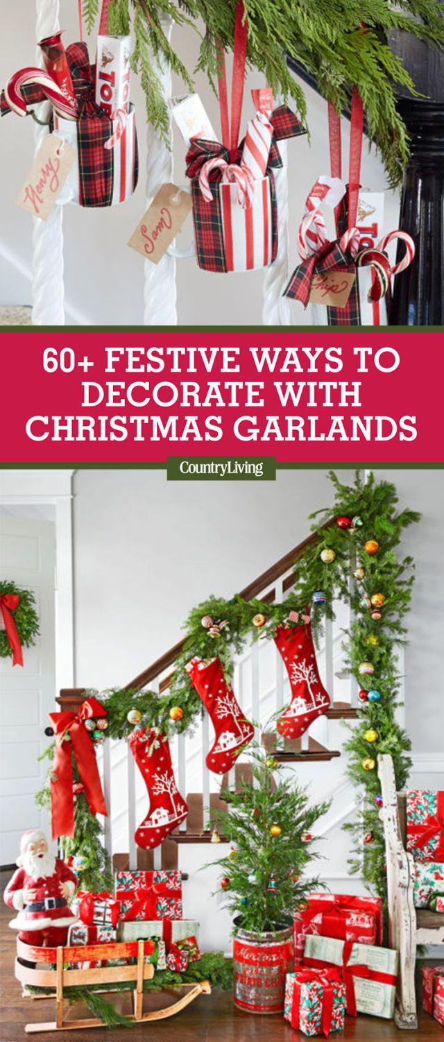 Save These Ideas. Save these Christmas garland decorating ... & 60 Best Christmas Garland Ideas - Decorating with Holiday Garlands