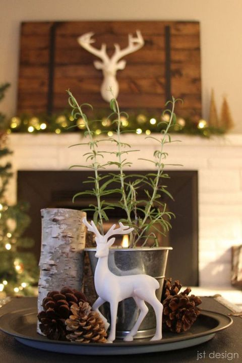 woodland christmas centerpiece courtesy of jst design - Christmas Centerpiece Decorations