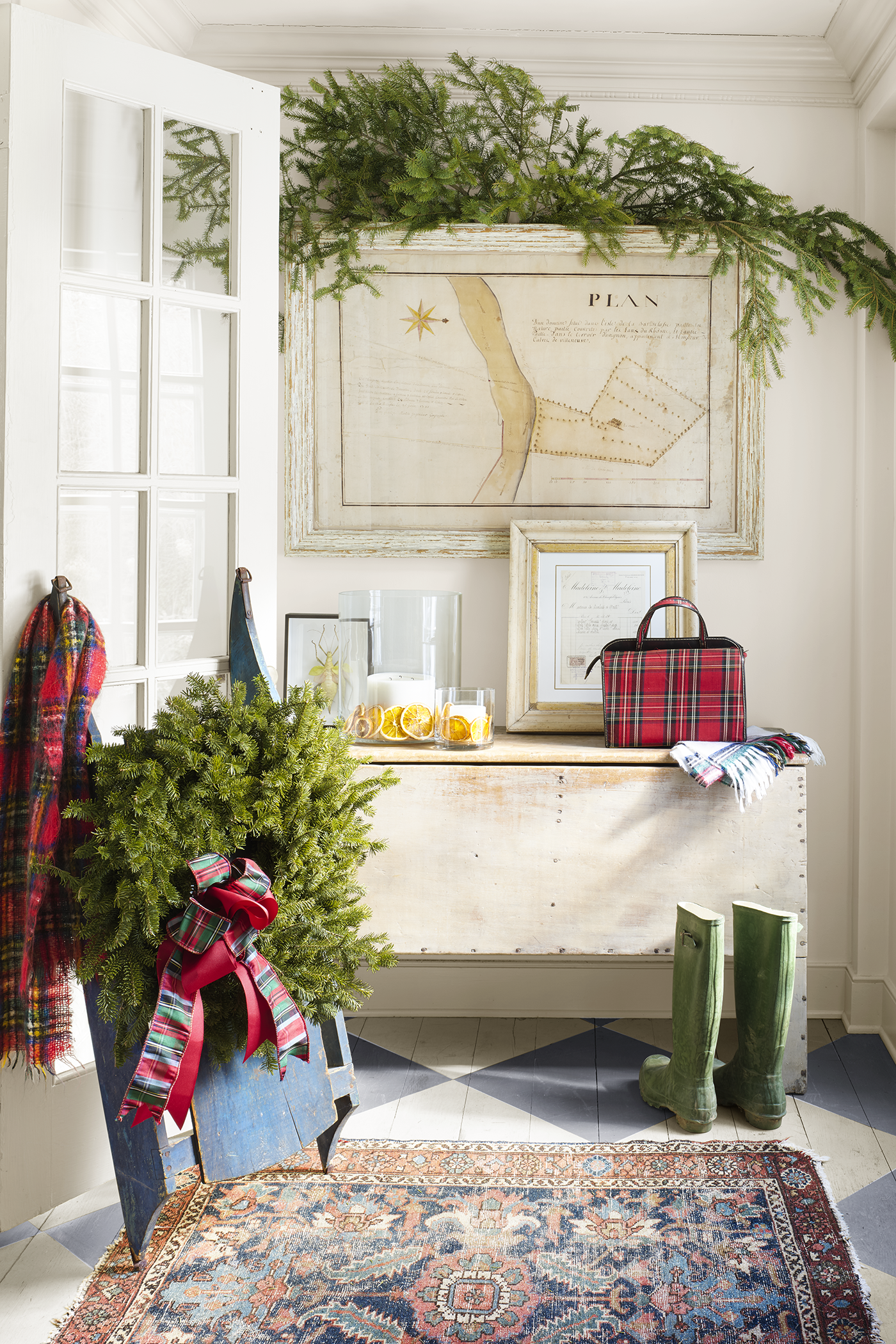 tartan pattern, winter decor