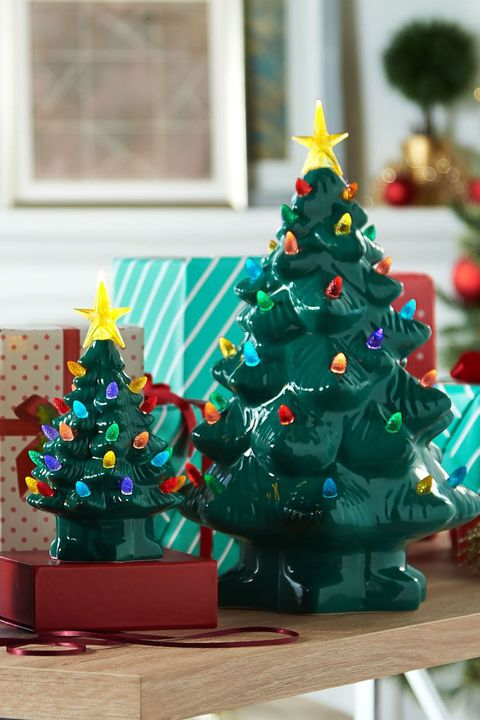 retro ceramic christmas trees