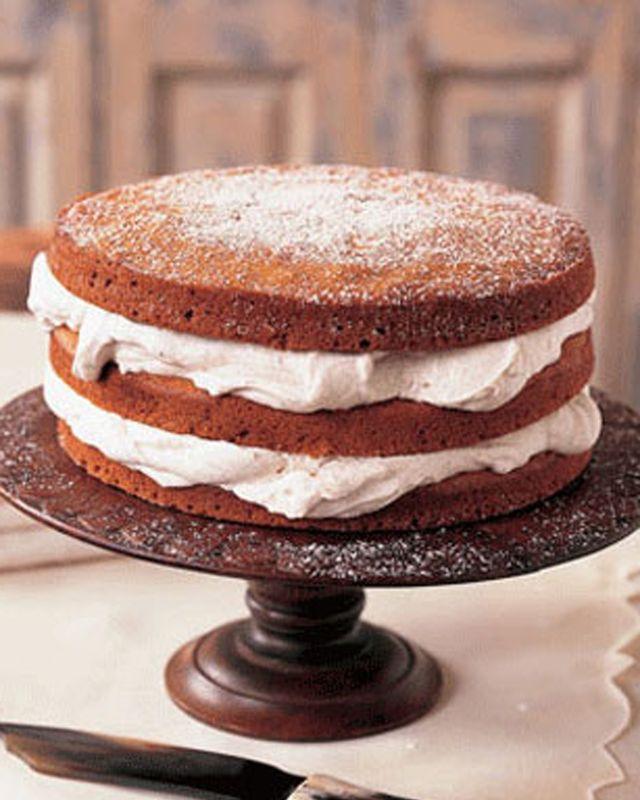 stacked applesauce cake