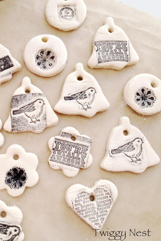 28 DIY Salt Dough Ornament Ideas - How