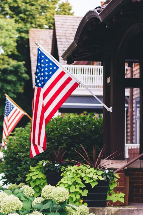Flag of the united states, Flag, Home, Flag Day (USA), House, Memorial day, Porch, Plant, Landscape, Independence day,