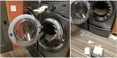 Exploding Whirlpool Washer - Mom Concussion from Exploding