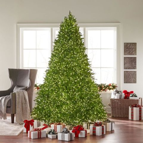 bright pre lit christmas tree home depot - Home Depot Christmas Decorations