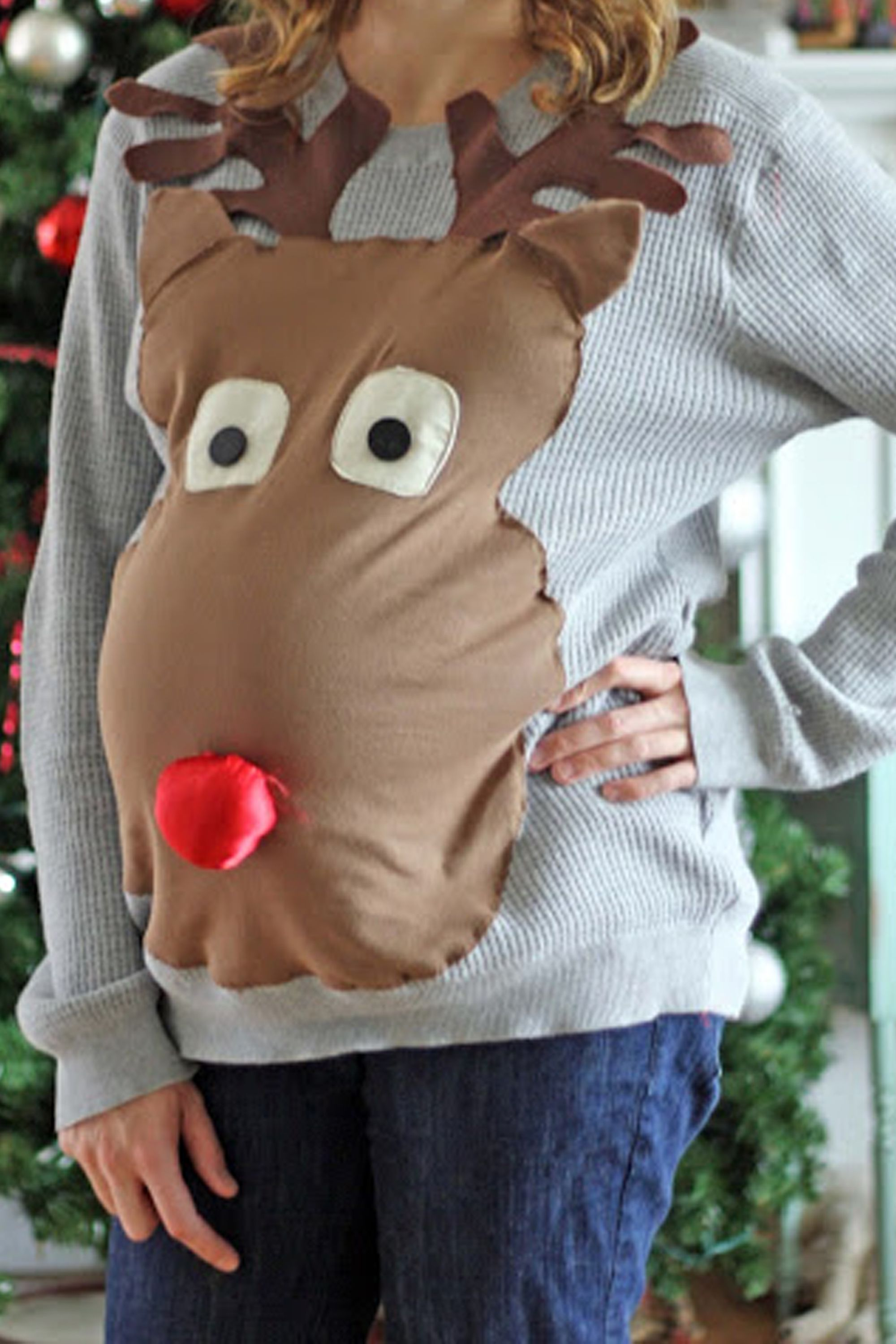 reindeer maternity sweater