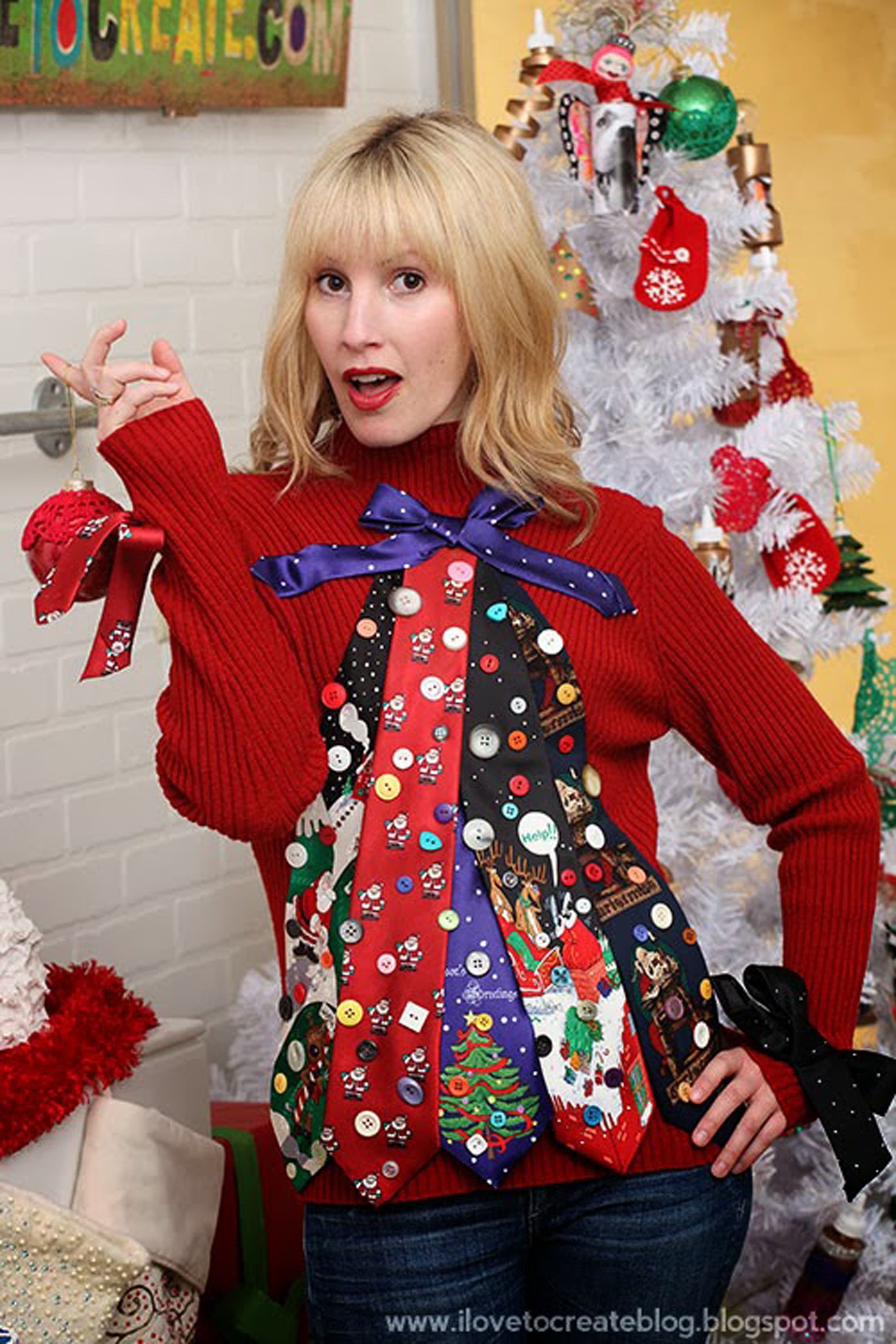 19 Diy Ugly Christmas Sweater Ideas Best Ugly Christmas Sweater Diys