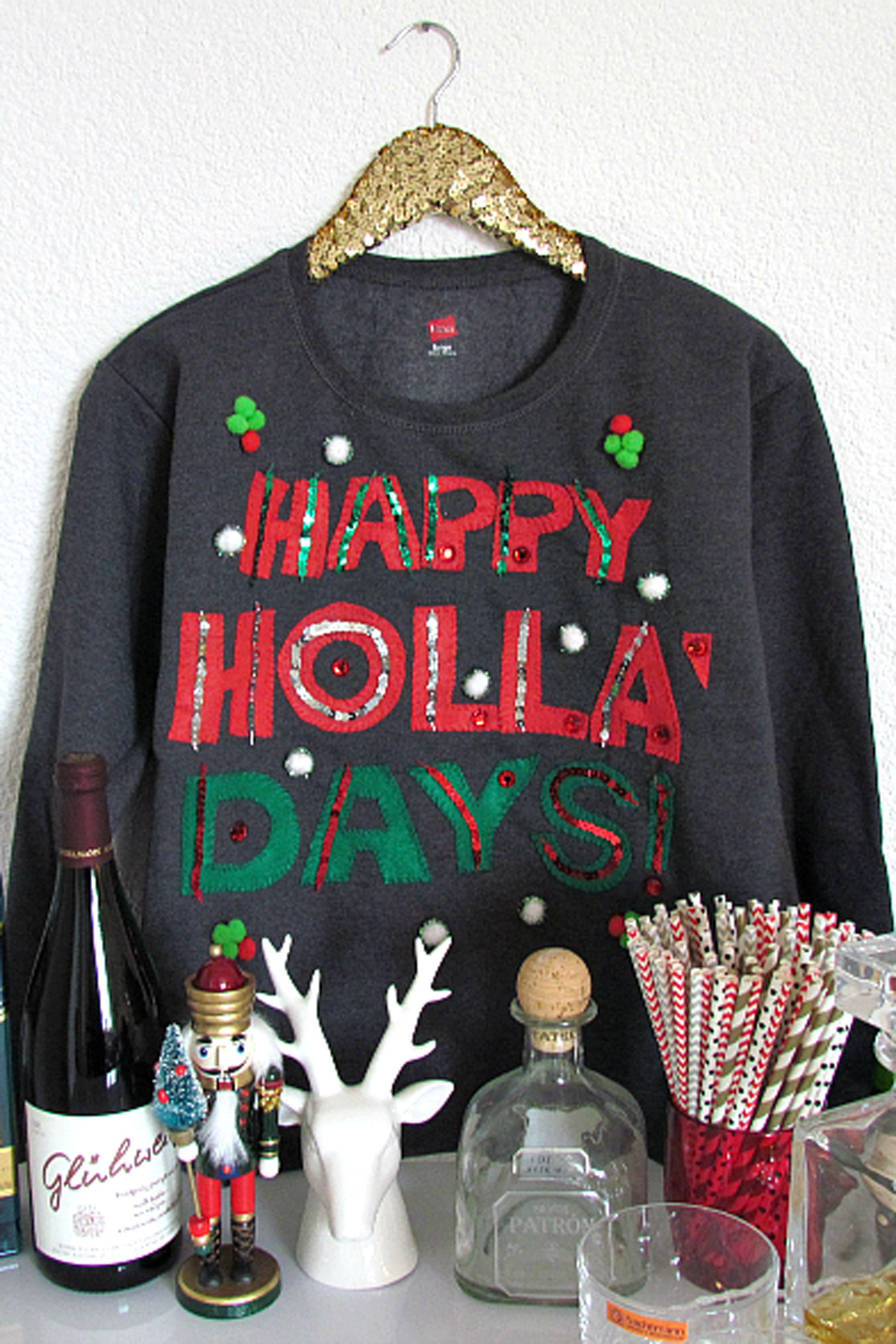 happy holla days sweater