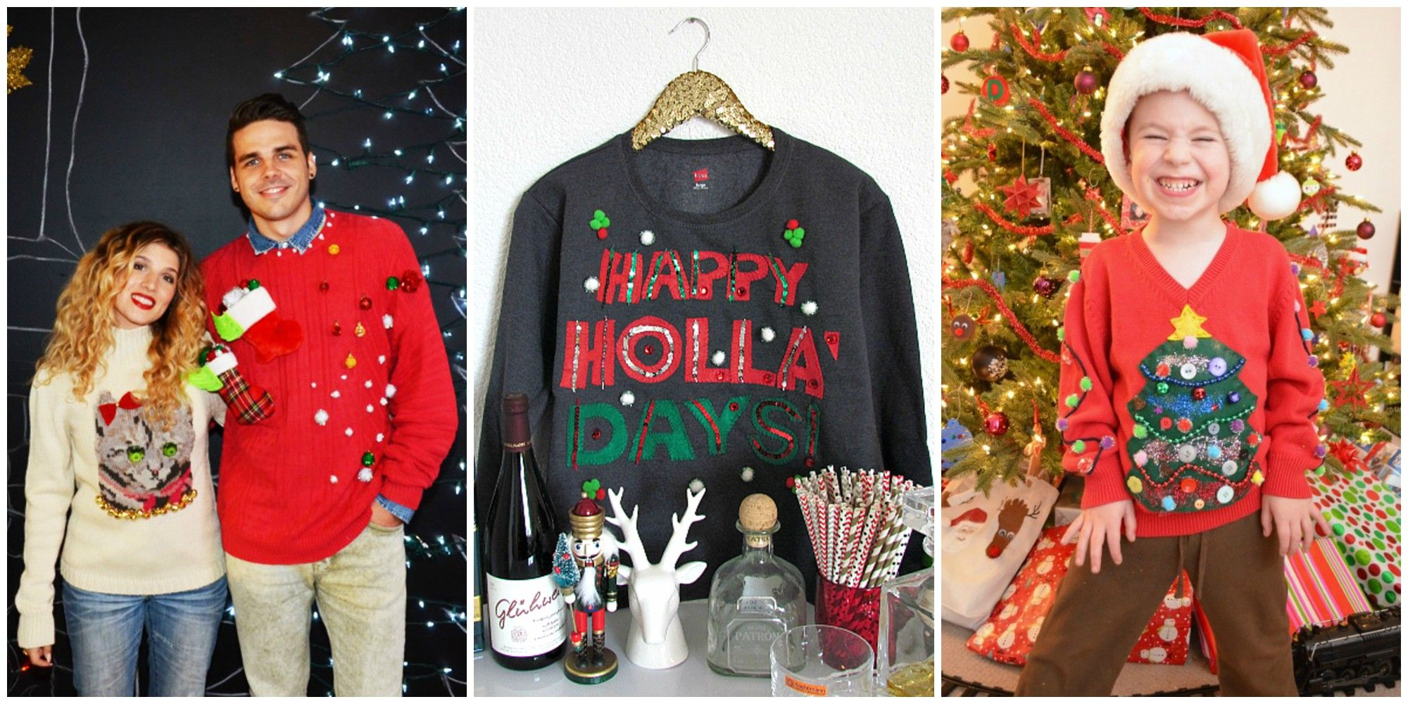 10 DIY Ugly Christmas Sweater Ideas That Would Make Santa Proud