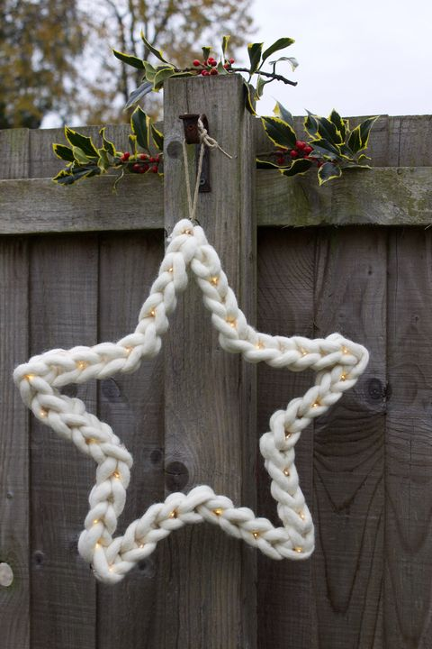 chunky knit christmas star