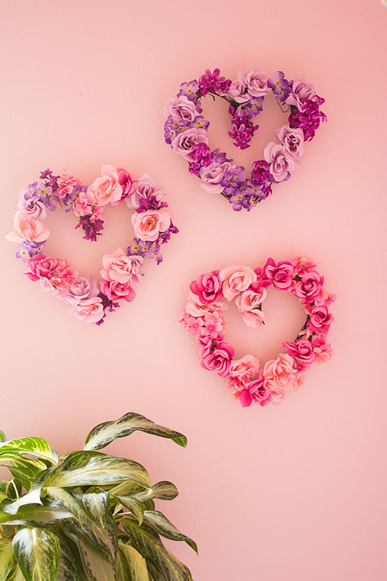DIY Floral Hearts