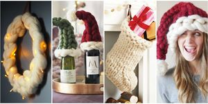 chunky knit christmas decorations
