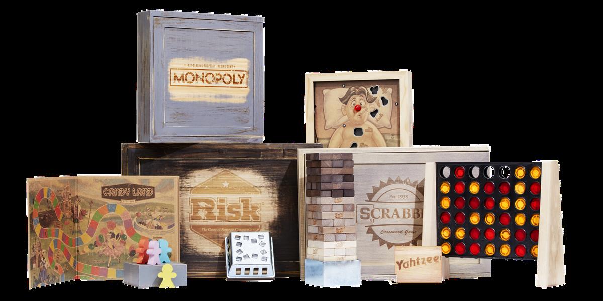 Classic Board Games Get Rustic Makeover Hasbro Rustic Series