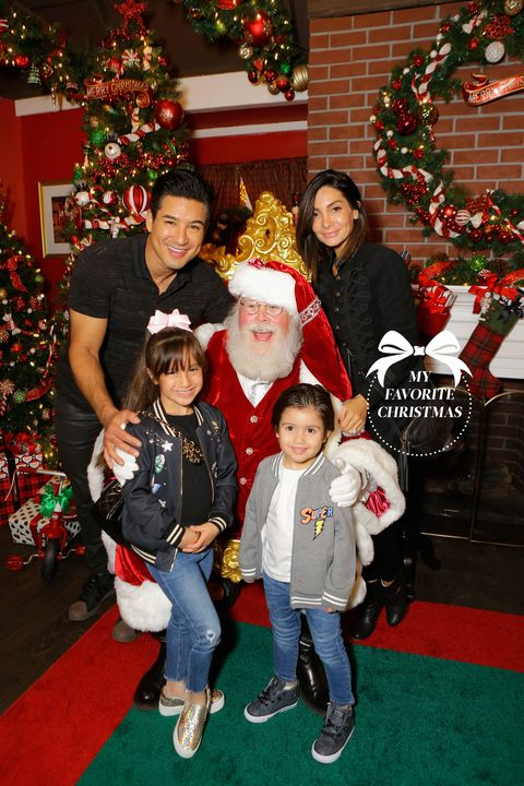 mario lopez courtney mazza family christmas