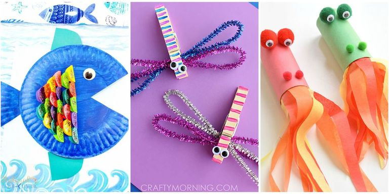 10 Easy Craft Ideas For Kids - Fun DIY Craft Projects for ...