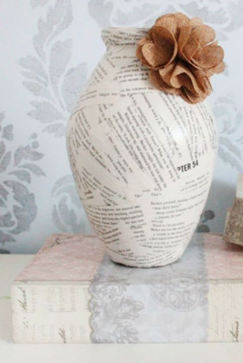 Vase, Artifact, Textile, Beige, Twine, Paper, Sheet music, Interior design,