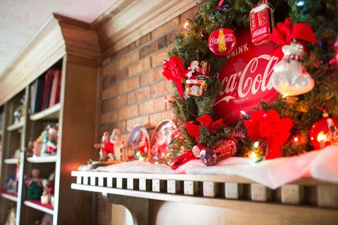 Peek Inside This Home Full Of Nostalgic Coca Cola Christmas
