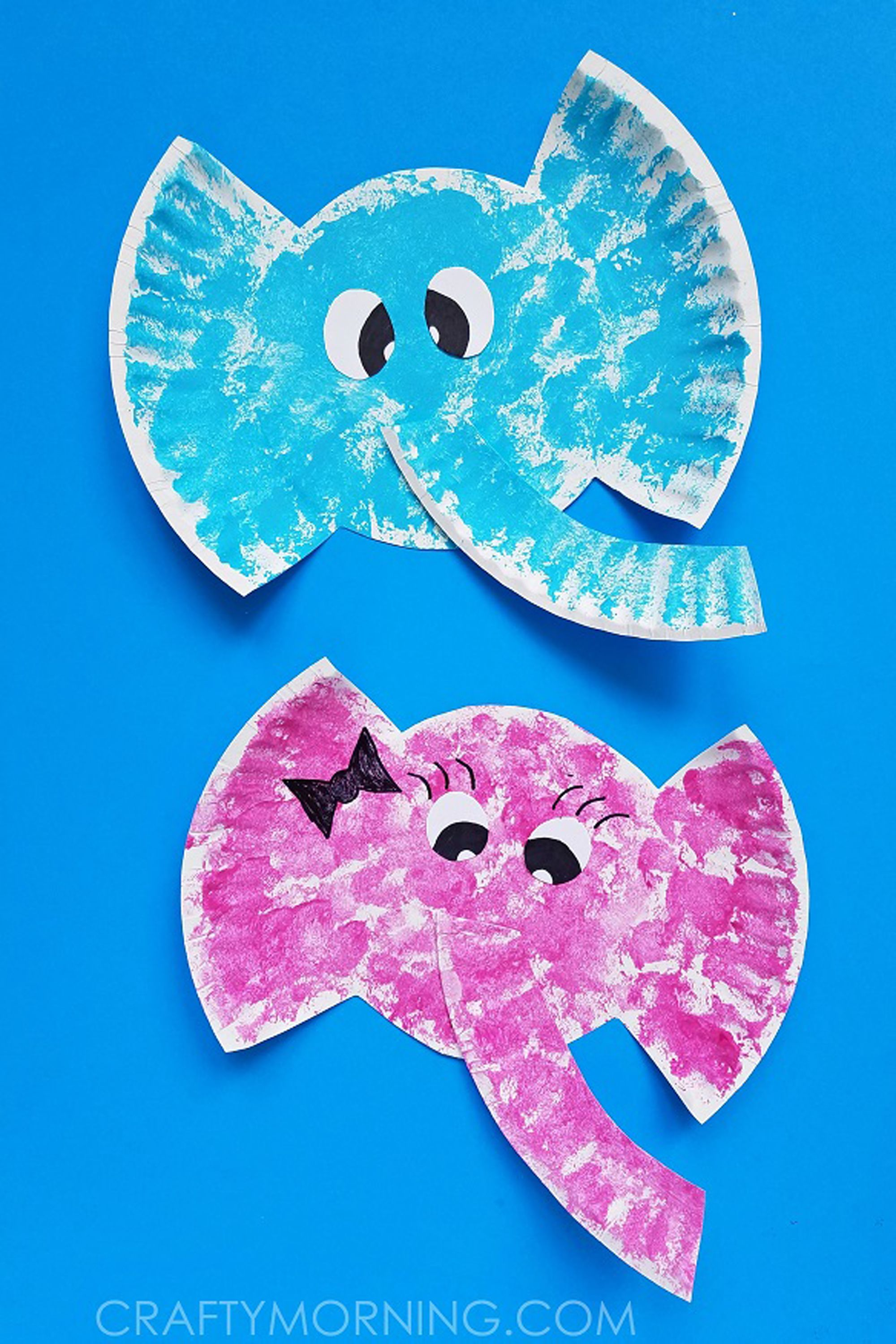 paper plate elephant crafts