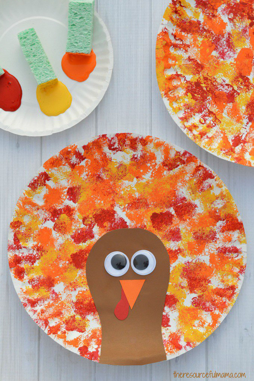 sponge-painted turkey