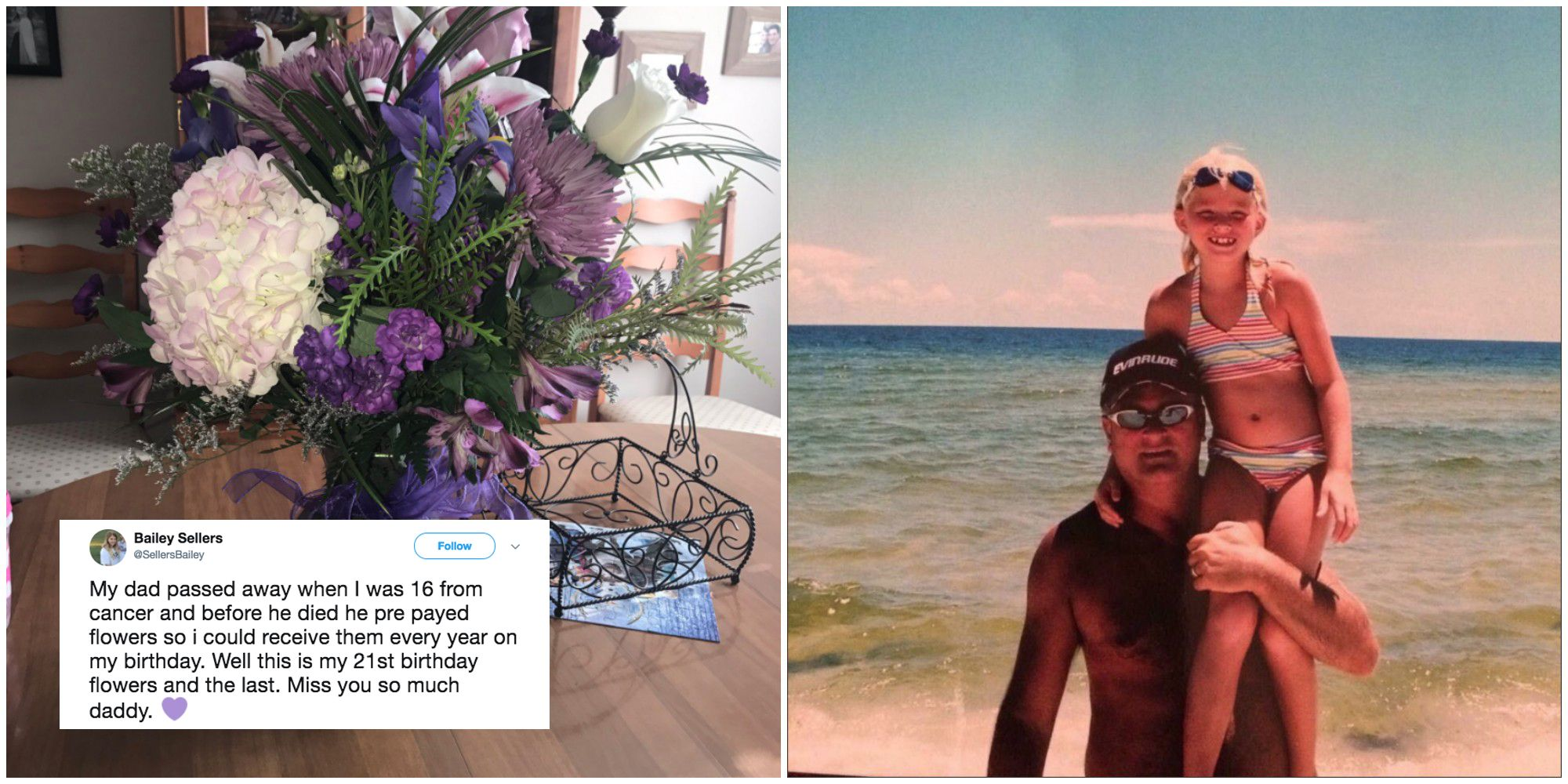 Daughter Receives Annual Birthday Flowers From Her Dad 5 Years After