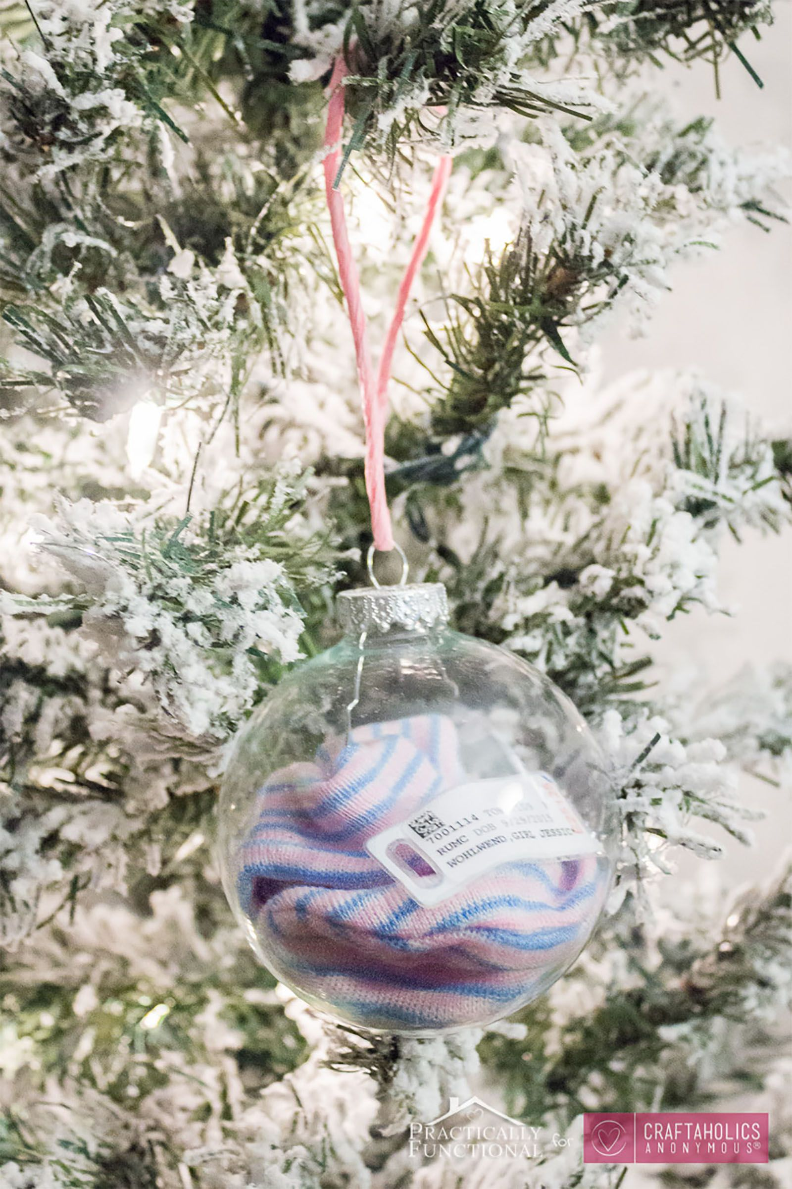 Personalised babys first Christmas bauble