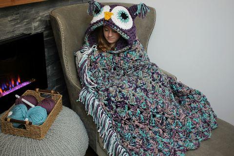 Diy Crochet Owl Blanket How To Make Hooded Owl Blanket