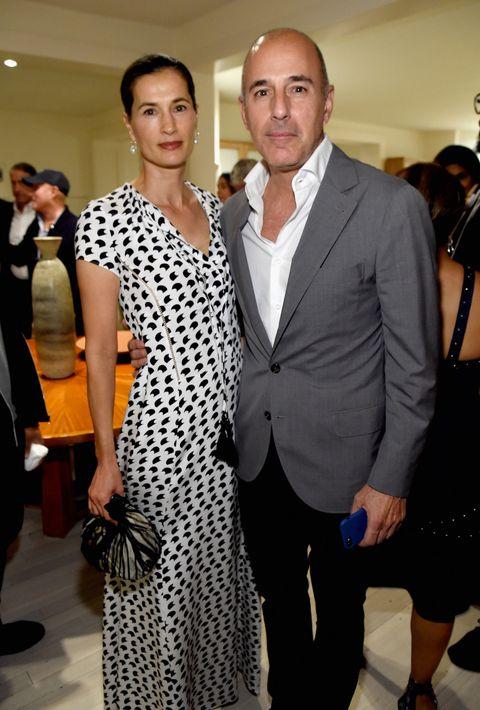 Matt Lauer and wife Annette Roque