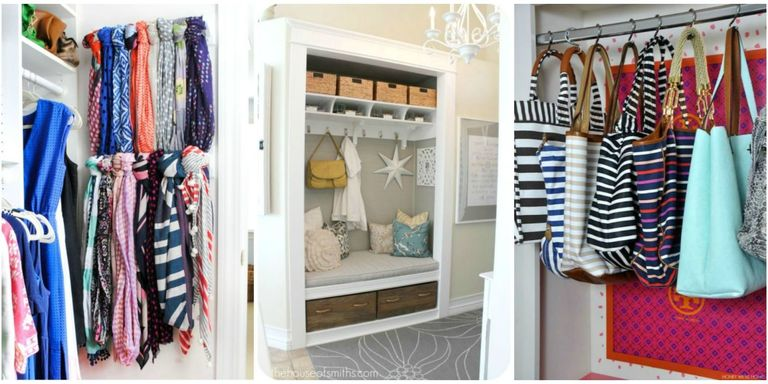 An organized clothes closet can simplify busy mornings and make every day just a little bit better. Two or even three short rods installed one above the other, rather than one high one, will maximize hanging space for short items like shirts, skirts, and folded trousers.