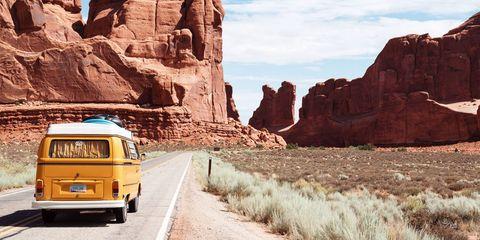 Badlands, Mode of transport, Vehicle, Mountainous landforms, Transport, Wadi, Rock, Yellow, Formation, Geology,
