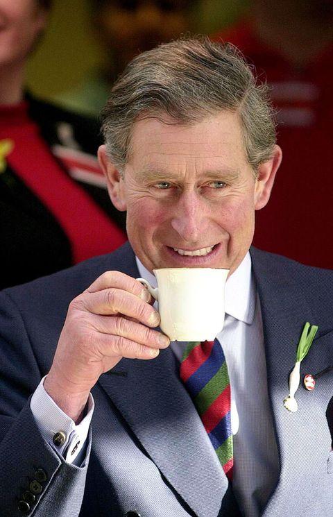 prince charles drinking tea