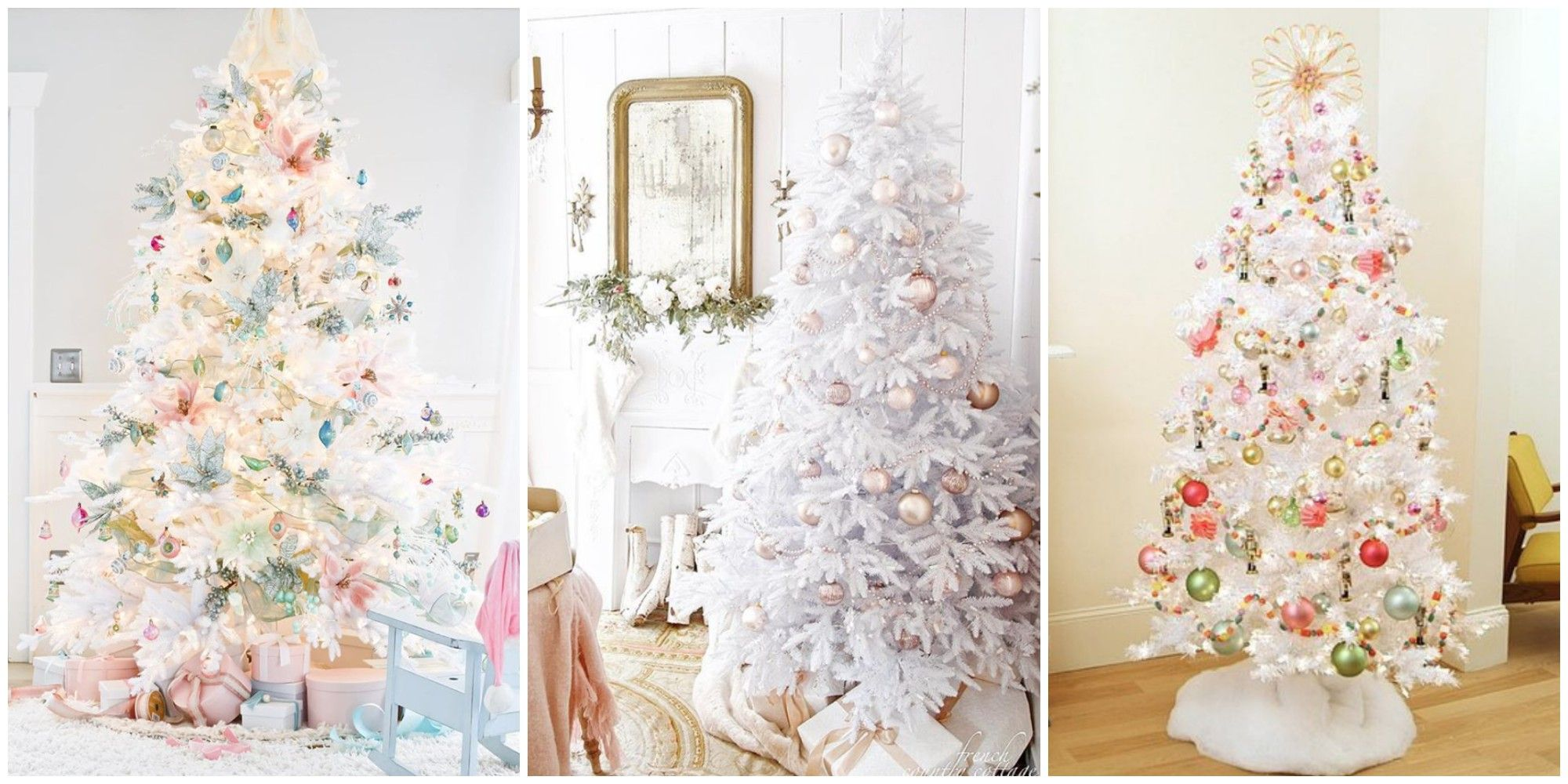 White Christmas Tree Trend White Christmas Tree Decorating Ideas