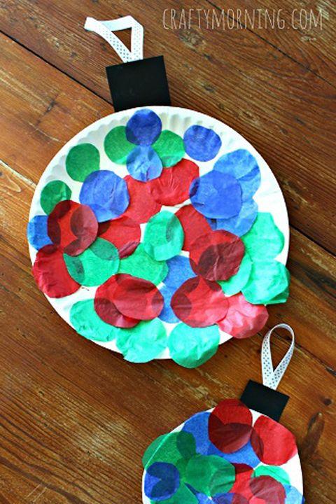 paper plate ornament craft