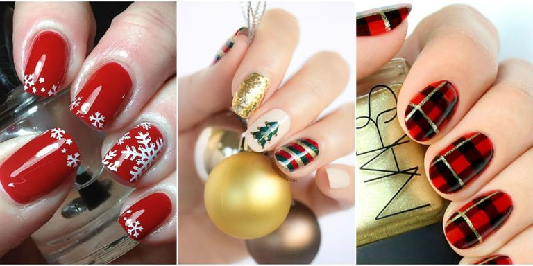 christmas nail art ideas - 11 Best Christmas Nail Art Design Ideas 2017 - Easy Holiday Nails