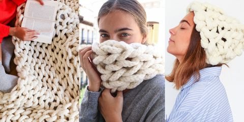 chunky knit kits we are knitters