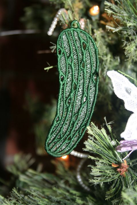 pickle christmas tree ornaments - Pickle On Christmas Tree