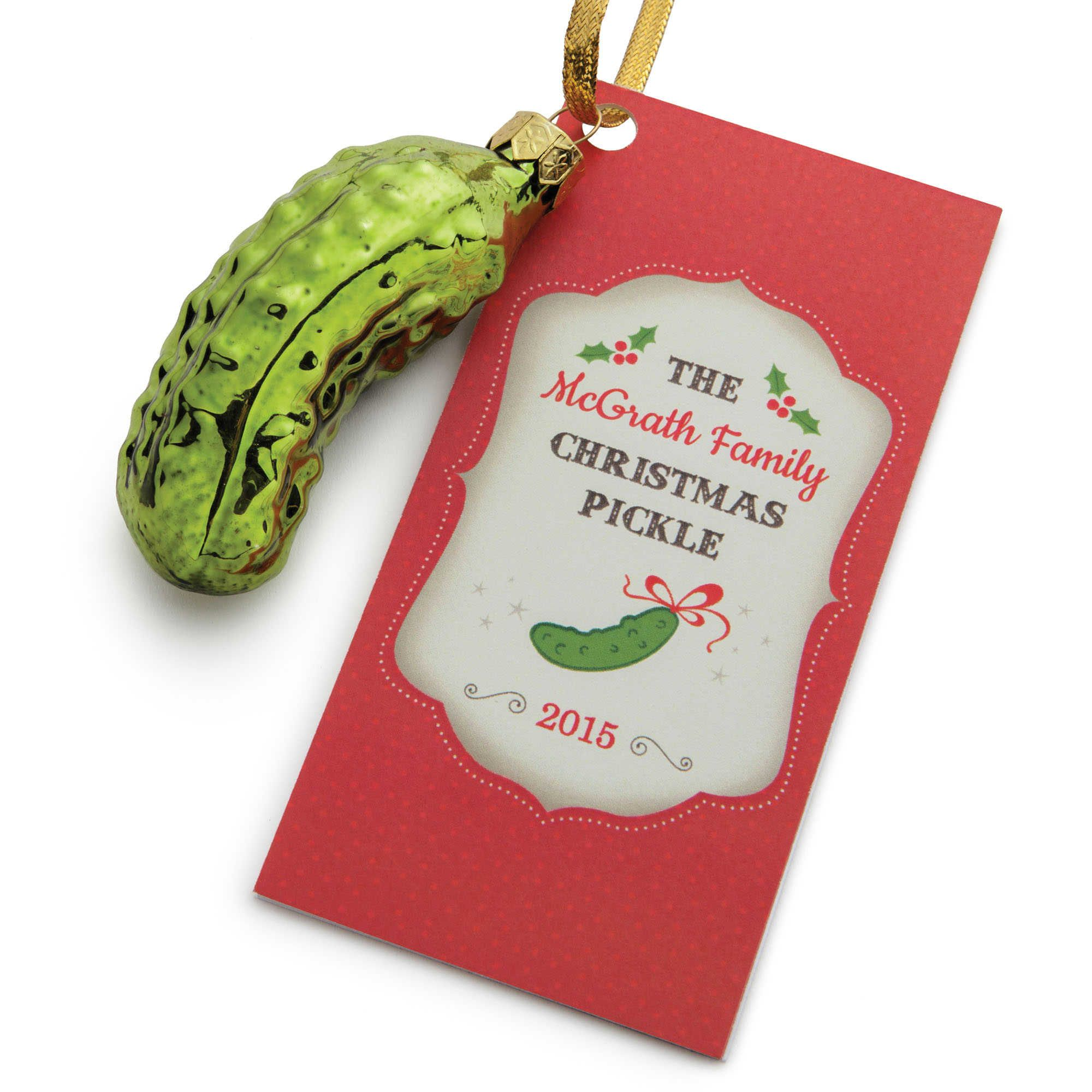 graphic about Christmas Pickle Story Printable identify Heritage of the Pickle Xmas Ornament Society