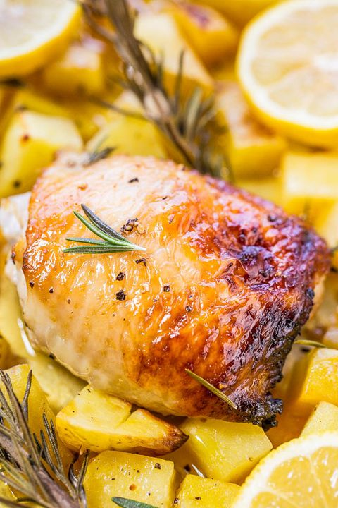 honey lemon chicken with roasted potatoes