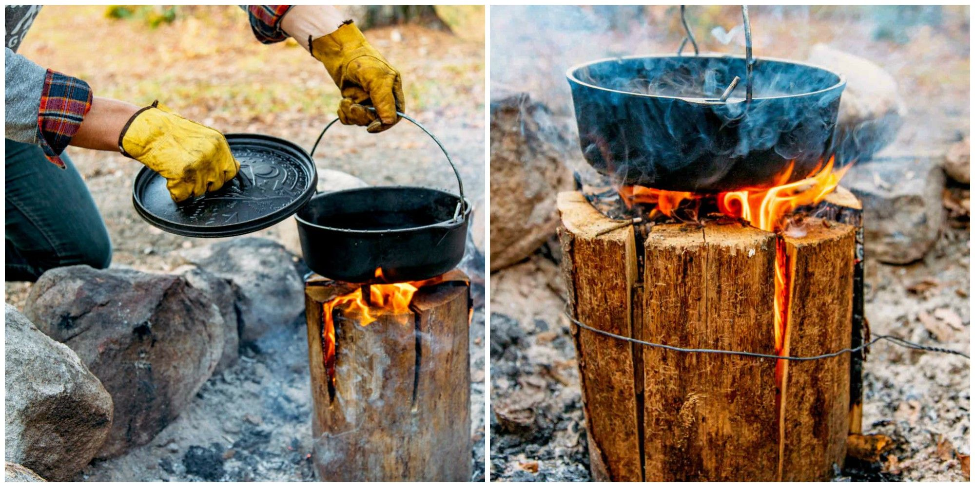 "Every Camper Needs to Learn How to Make a ""Swedish Fire Log"""