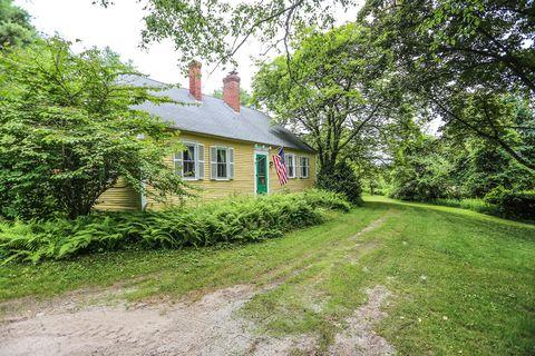 Property, House, Cottage, Home, Natural landscape, Tree, Building, Real estate, Grass, Rural area,