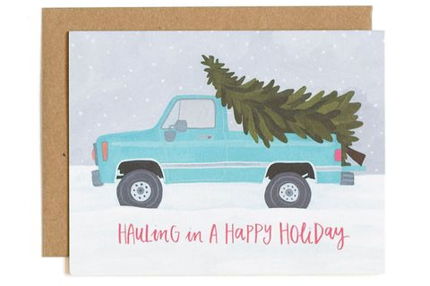 truck christmas card etsy