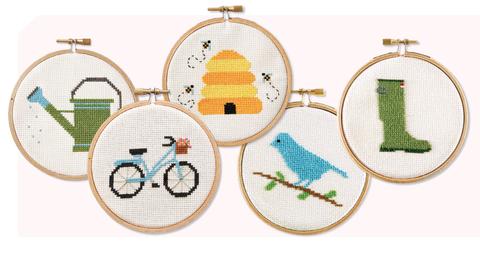 Cross-stitch, Stitch, Textile, Pattern, Needlework, Embroidery, Art, Craft, Vehicle, Oval,