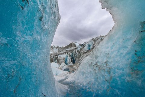 Glacier, Glacial landform, Ice cave, Blue, Ice, Geological phenomenon, Freezing, Water, Ice cap, Formation,