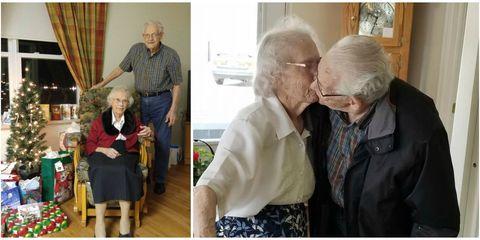 senior couple separated