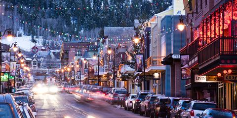 Small Quaint Little Towns Decorated For Christmas
