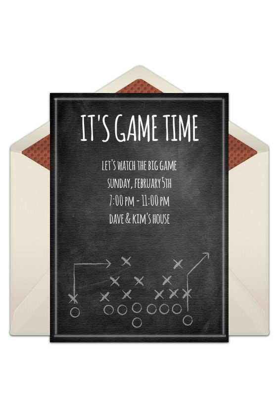 14 Free Super Bowl Party Invitations 2019 - Football Party Invites