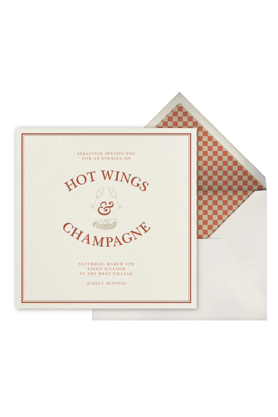 hot wings champagne