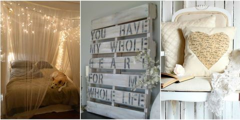 21 DIY Romantic Bedroom Decorating Ideas - Country Living Bedroom Decorating Ideas Diy on diy crafts, diy modern kitchen, teenage bedroom ideas, diy bedroom organization ideas, diy teen bedroom ideas, little girls bedroom ideas, diy construction ideas, diy bedroom makeover, diy girls bedroom ideas, diy bedroom painting, diy bedroom lighting ideas, diy decorating on a budget, diy projects, diy cheap bedroom ideas, diy creative room ideas, diy pillows ideas, diy boys bedroom ideas, diy for your bedroom, diy bedroom decor, diy bedroom games,
